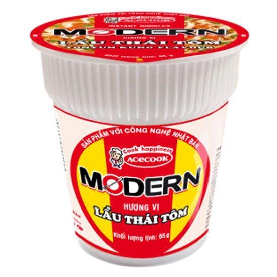 Thùng mì ly Modern Lẩu Thái Tôm - 24 ly