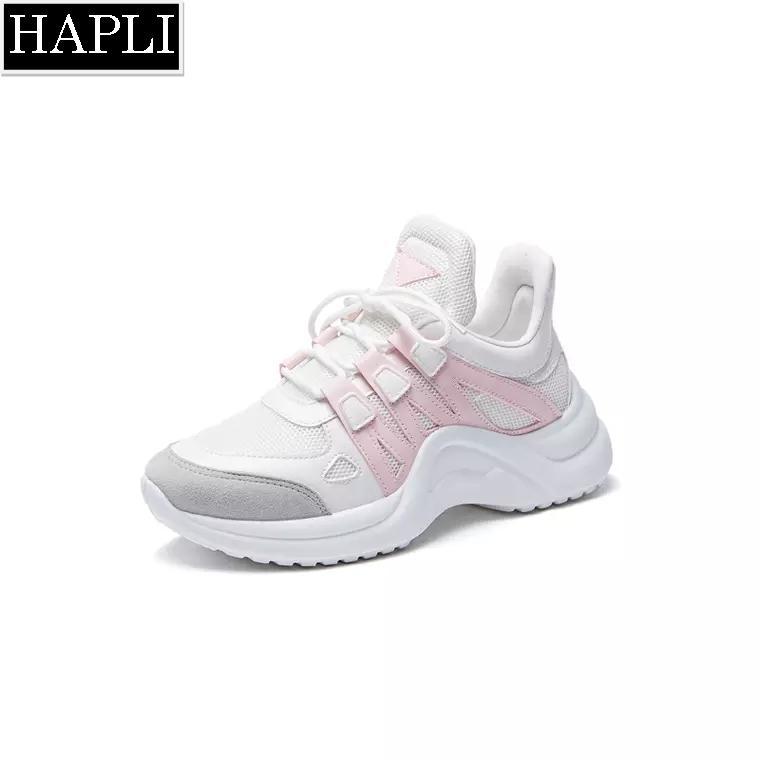 Hình ảnh HOT TREND ULZZANG mới nhất CỰC CHẤT Giày thể thao sneaker nữ pha màu HAPLI (trắng hồng, trắng xanh, trắng đen, trắng vàng đẹp)