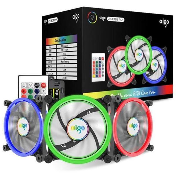 Bảng giá Combo 3 quạt tản nhiệt led AIGO Aurora R3 cao cấp Phong Vũ