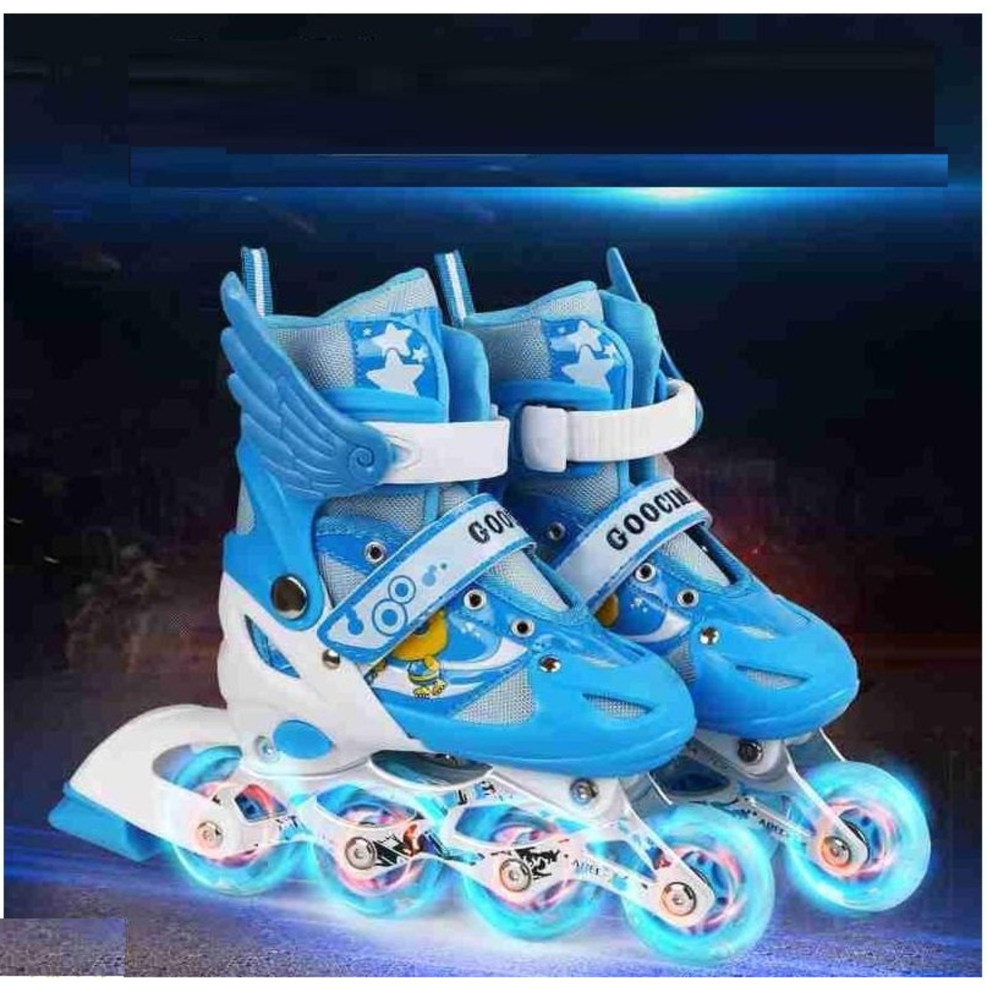 Giày patin trẻ em,giầy trượt patin cho trẻ em - Giày Patin Trẻ Em, Chắc Chắn, Ôm Sát Chân Chân,  Giúp Bé Vui Chơi Thỏa Thích Mà Lại An Toàn, Sản Phẩm Cao Cấp -Tặng Kèm Bộ Bảo Hộ Đáng Yêu  - Mẫu Mới 2044