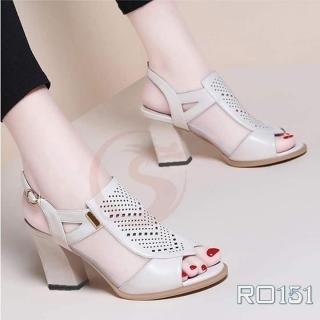 Giày sandal cao gót nữ đẹp hàng hiệu Rosata-chữ V sang trọng RO151 thumbnail