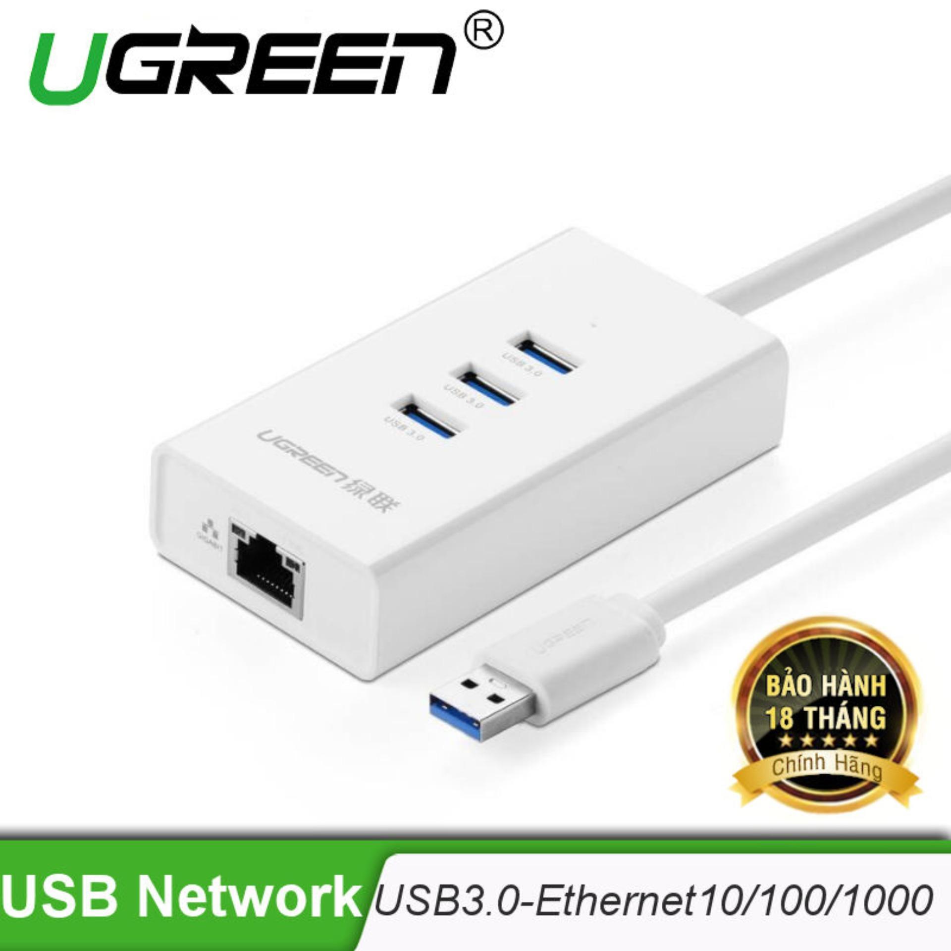 Giá Bán Usb 3 Kết Hợp Cổng Ethernet 10 100Mbps Chip Reatek Ugreen Cr102 20262 Hang Phan Phối Chinh Thức Trong Hà Nội