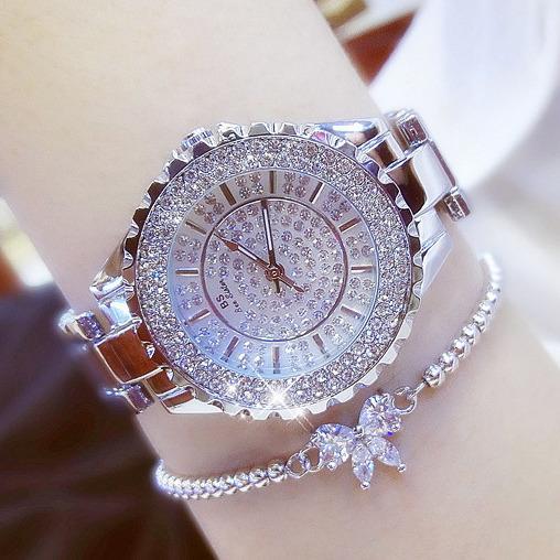 Hình ảnh Đồng hồ nữ đính đá thời trang BS BEE SISTER S300 (Vàng Kim)