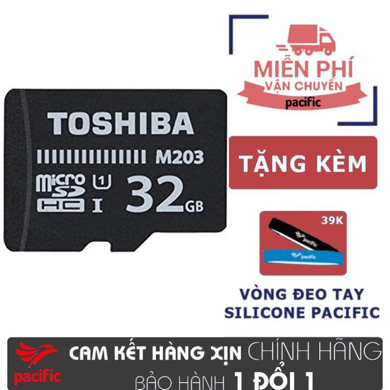 Thẻ nhớ Toshiba 32GB MicroSDHC UHS-I U1 100MB/s +(16GB) - Tặng Vòng đeo tay Silicone Pacific