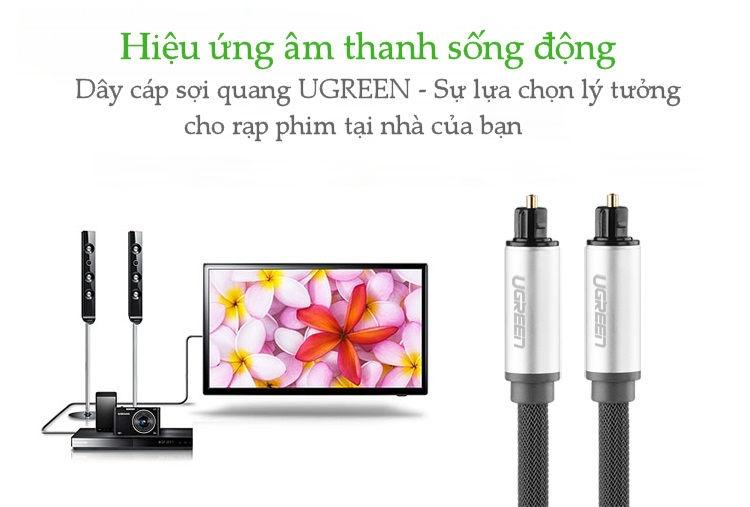 Dây audio quang (Toslink Optical) đầu nhôm UGREEN AV108