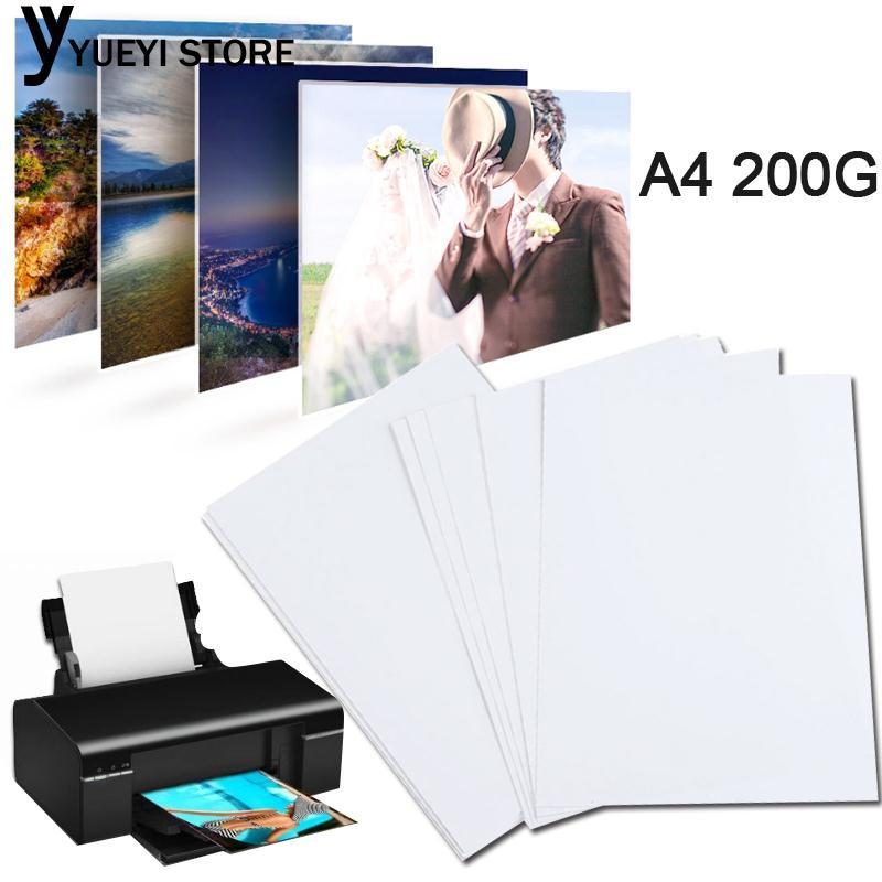 Hình ảnh YYSL A4 Glossy Photo Paper A4 Print Photo Paper White 20 Sheets