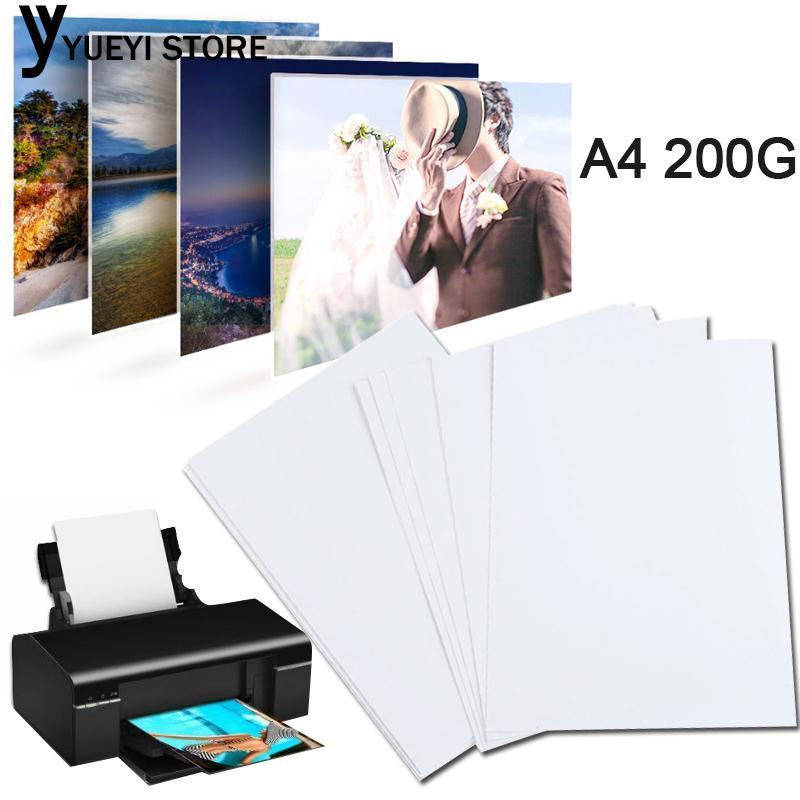 YYSL A4 Glossy Photo Paper A4 Print Photo Paper White 20 Sheets