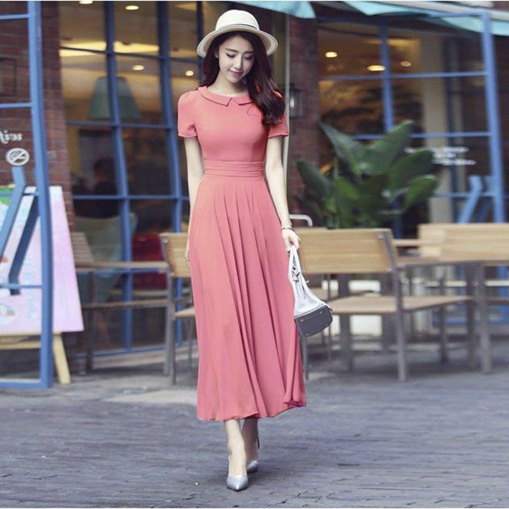 Deal tại Lazada cho Đầm Maxi Voan Cổ Sen Misa Fashion MS289