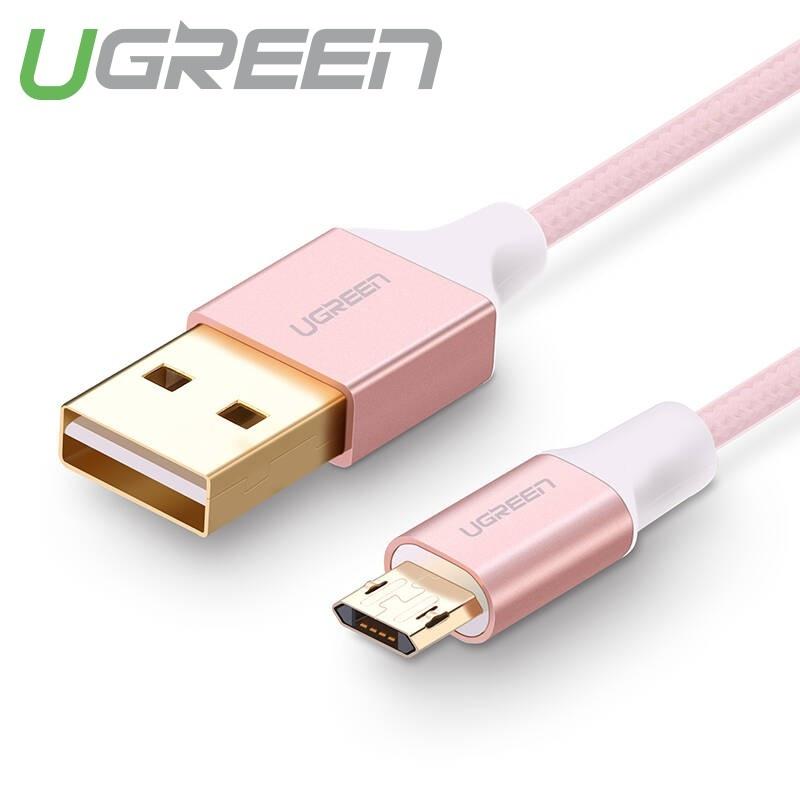 Cáp sạc Micro USB (công nghệ mới, cắm được cả 2 chiều) sang USB 2.0 dài 0.5-1m UGREEN US223