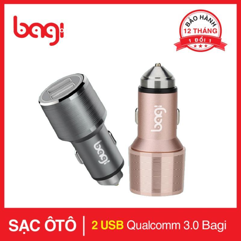 Sạc ô tô Bagi có sạc nhanh Qualcomm Quick Charge 3.0