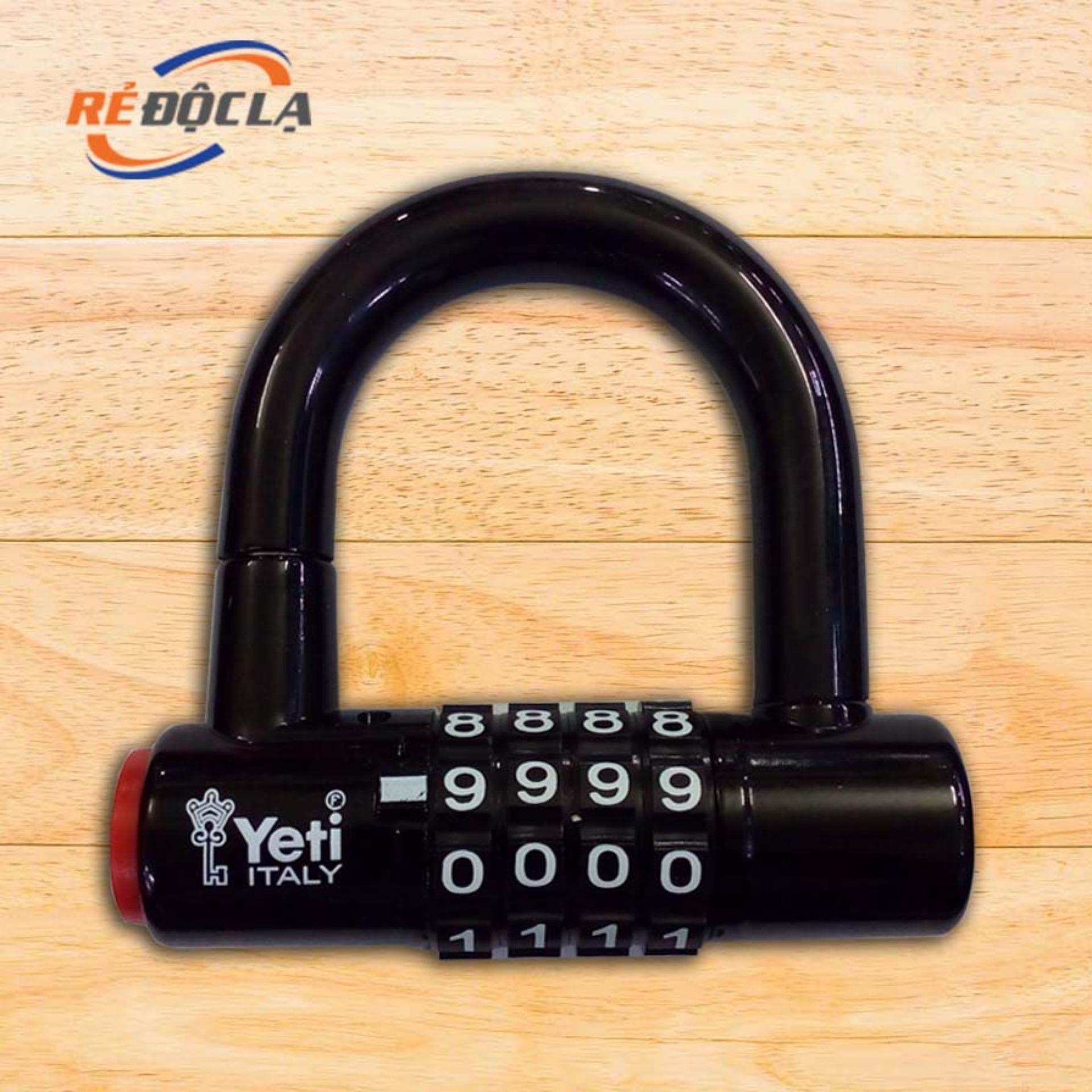 Ổ Khóa mã số chữ U YETI L-701 ( Đen )- Better Shop
