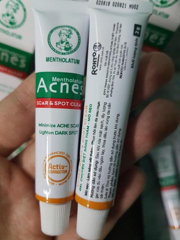 COMBO 5Gel Chuyên Biệt Sáng Thâm Mờ Sẹo Acnes Scar And Spot Clear 2g-Mới 2018 (MẪU THỬ) nhập khẩu