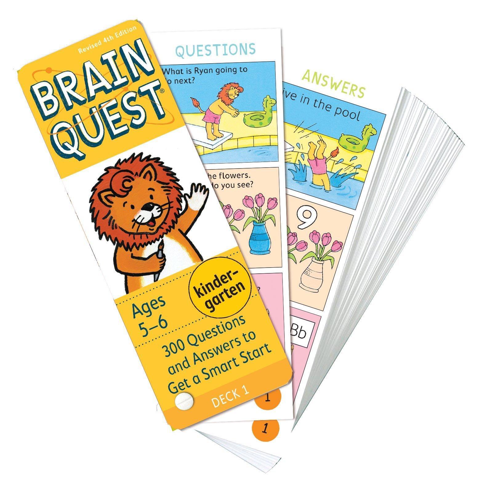 Bộ Thẻ Học Tiếng Anh - Brain Quest Kindergarten By Sách Thiếu Nhi Mẹ Ong Nâu.