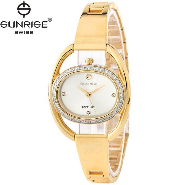 Đồng hồ nữ dây kim loại mặt kính sapphire chống xước Sunrise SL9917DLK