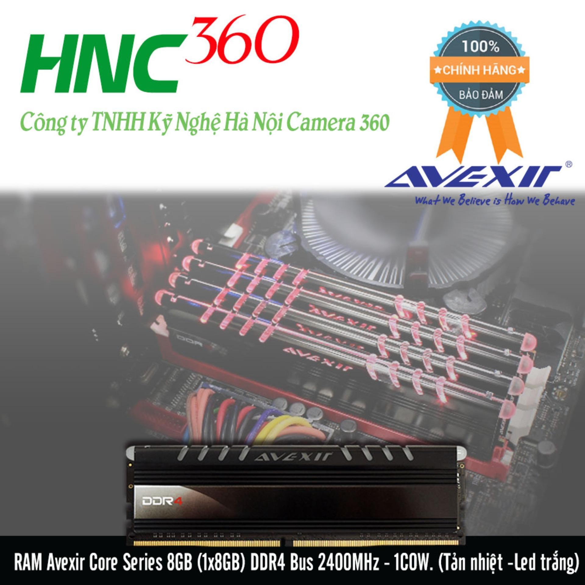 Hình ảnh RAM Avexir Core Series 8GB (1x8GB) DDR4 Bus 2400MHz - 1COW. (Tản nhiệt -Led trắng)