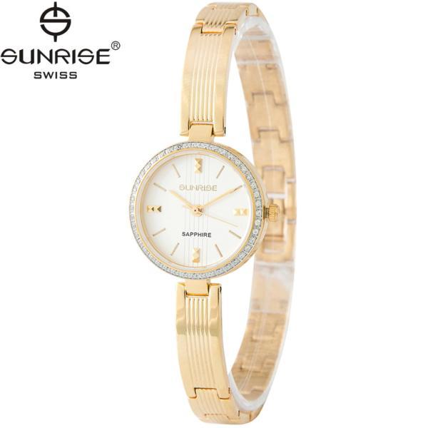 Đồng hồ nữ dây kim loại mặt kính sapphire chống xước Sunrise SL903DLK
