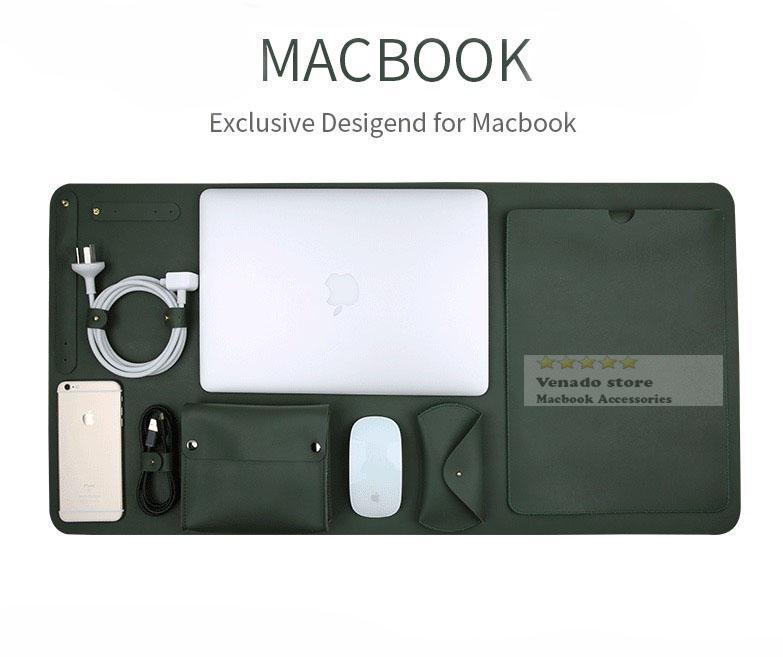 Bảng giá Combo 5 món da phụ kiện macbook siêu hot 2018 Phong Vũ