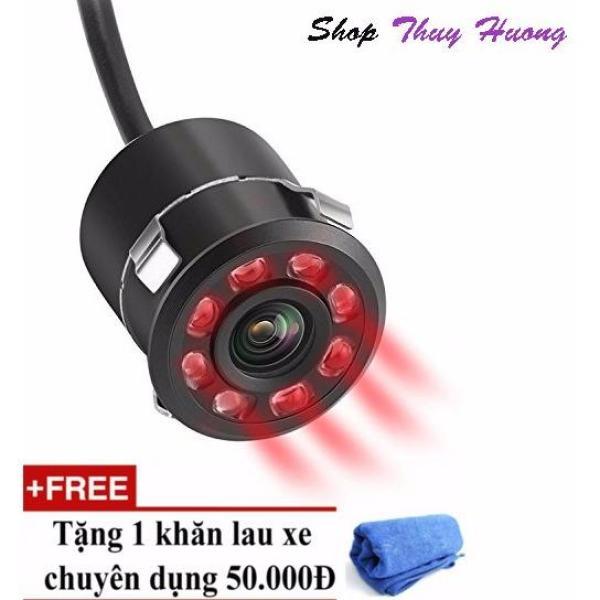 camera ip - Camera lùi hồng ngoại 8 LED chuyên ban đêm, FULL HD, Siêu chống nước - TẶNG KHĂN LAU XE CAO CẤP