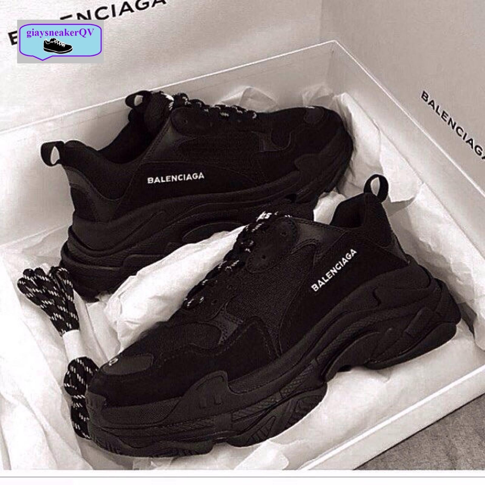 Hình ảnh (FULL BOX) Giày sneaker BALEN TRIPLE S đen