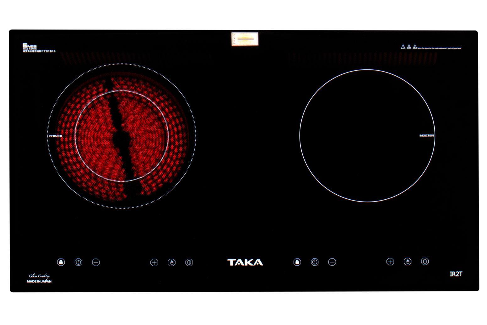 Bếp Từ+Hồng Ngoại Kính Made in Japan TAKA IR2T