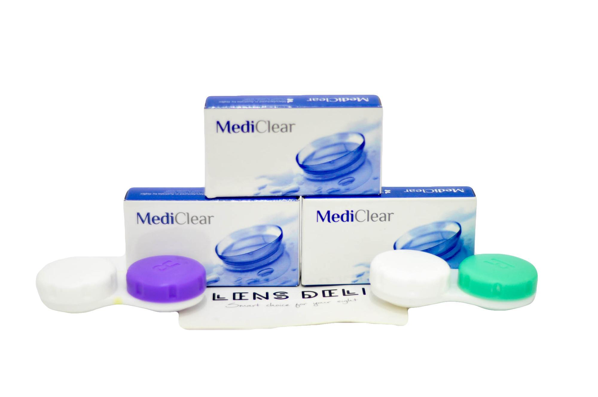 Kính áp tròng MediClear siêu mềm mỏng 0.05mm xx Úc – Trong suốt (tặng kèm khay đựng kính) Nhật Bản