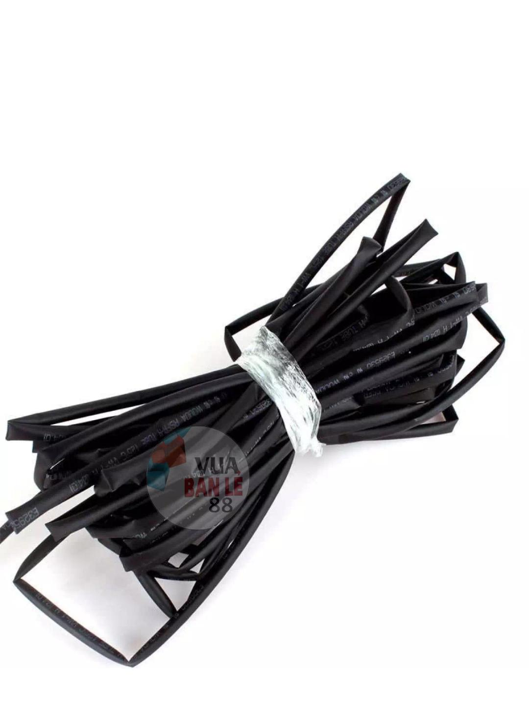 Bộ 20 ống gen co nhiệt (đen) phi 4 , mỗi ống 1 mét
