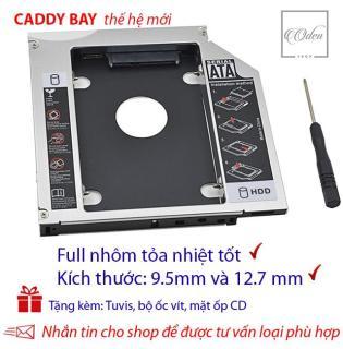 [HCM]Khay gắn ổ Cứng SSD HDD thứ 2 cho laptop - Full nhôm - dày 12.7mm và mỏng 9.5 mmSATA Tặng tuvit & mặt ốp cd thumbnail