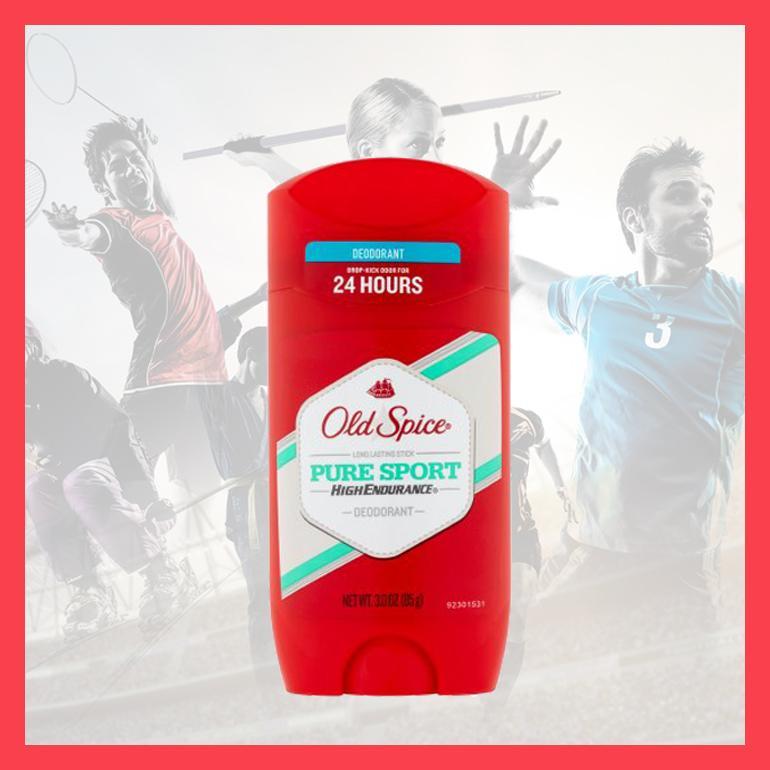[Hàng Mỹ] Lăn khử mùi nam Old Spice Pure Sport 85g hoặc 73g Đỏ hoặc Trắng