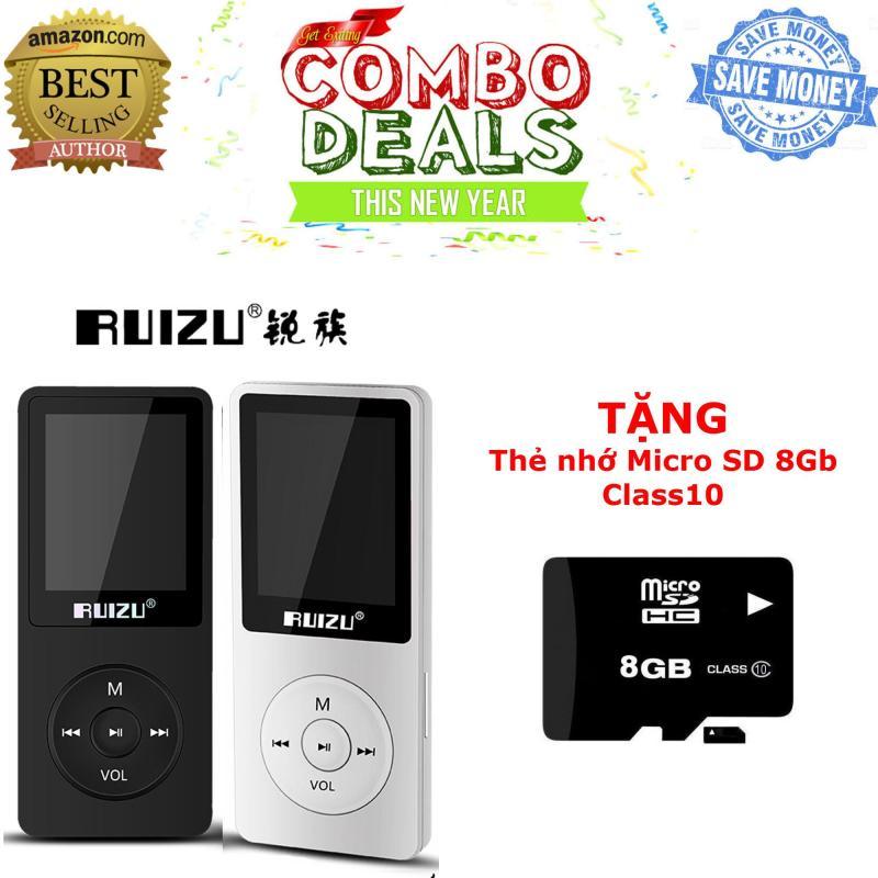 Máy nghe nhạc mp3 RUIZU X02 (Hàng công ty nhập khẩu và phân phôi) - TẶNG kèm thẻ nhớ micro SD 8Gb Class 10