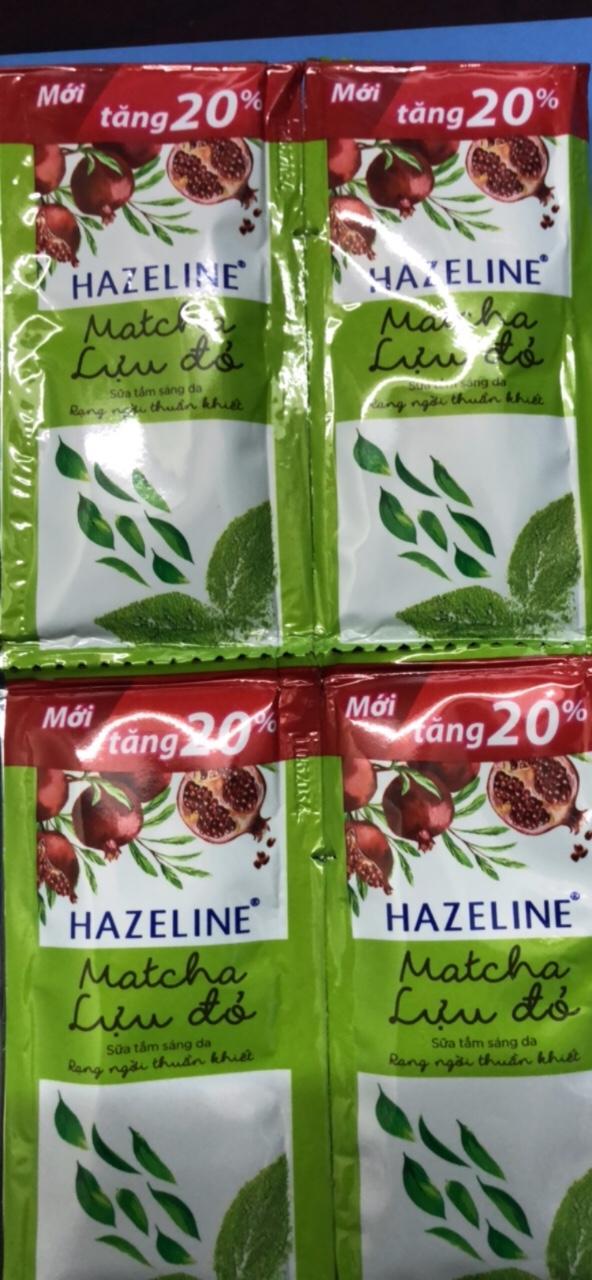 Combo 10 gói sữa tắm Hazeline matcha lựu đỏ + Tặng 1 ví cầm tay xinh xắn