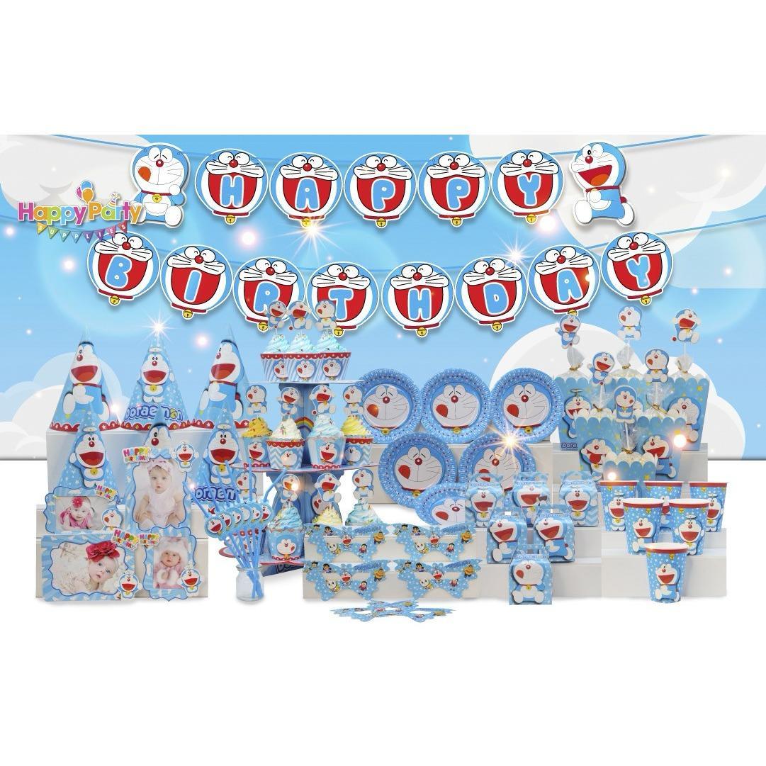 Hình ảnh Set trang trí sinh nhật để bàn- Chủ đề DoreMon