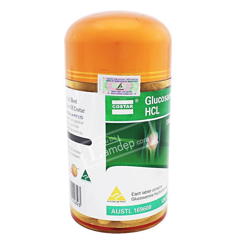 ( Best seller )[GLUSAMINE HCL COSTAR 1500mg x120 viên] Cải thiện và điều trị các bệnh về xương khớp