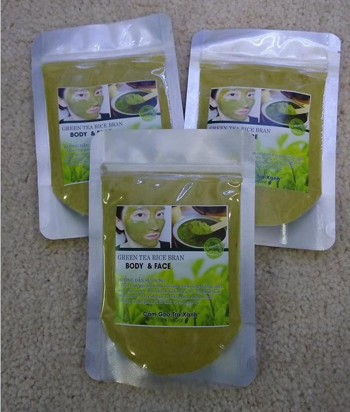 Combo 3 gói Bột cám gạo trà xanh_mỗi gói 100gr