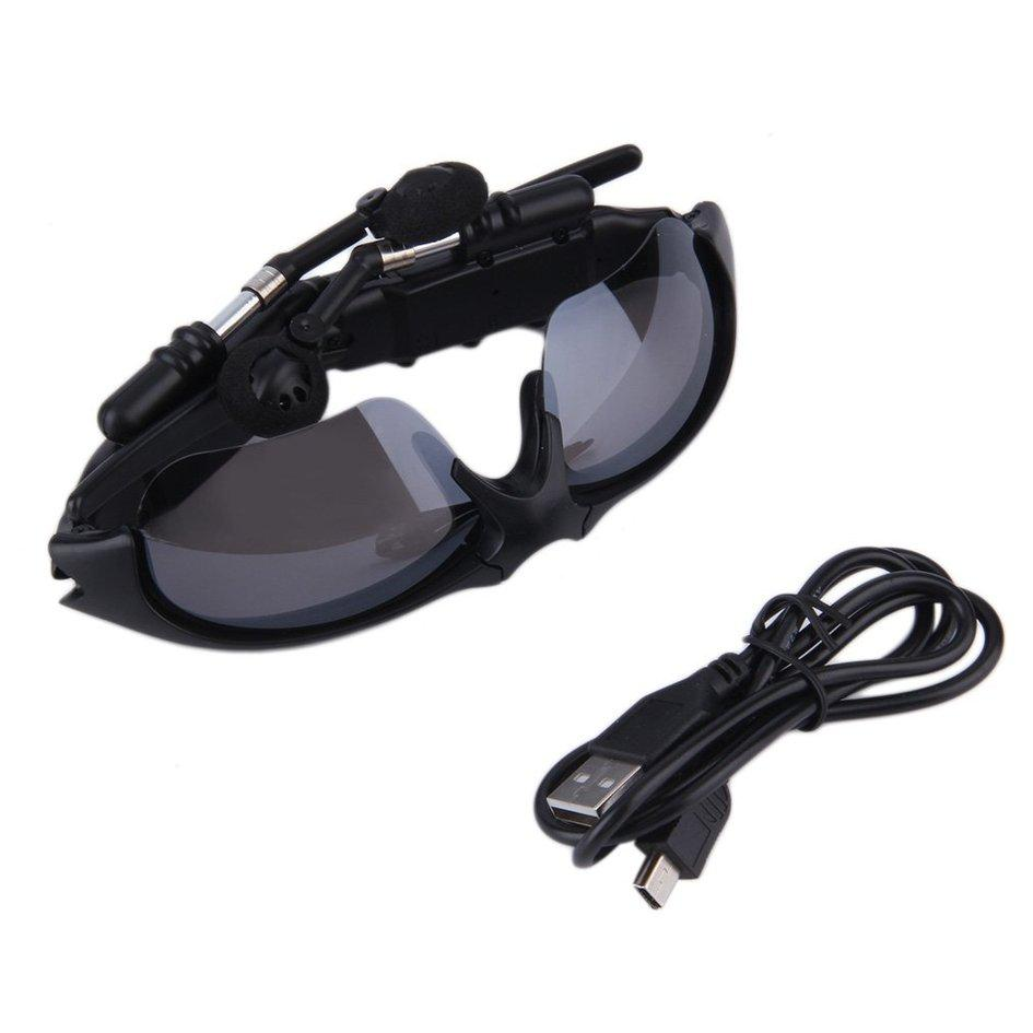 Wireless Handsfree Bluetooth 4.1 Headset Stereo Headphone Sunglasses (Black)