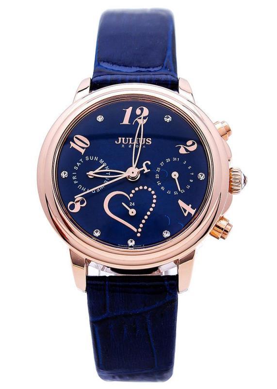 Đồng hồ nữ Julius Hàn Quốc Ja-844 Ju1016 xanh dương Thay dây miễn phí chính hãng