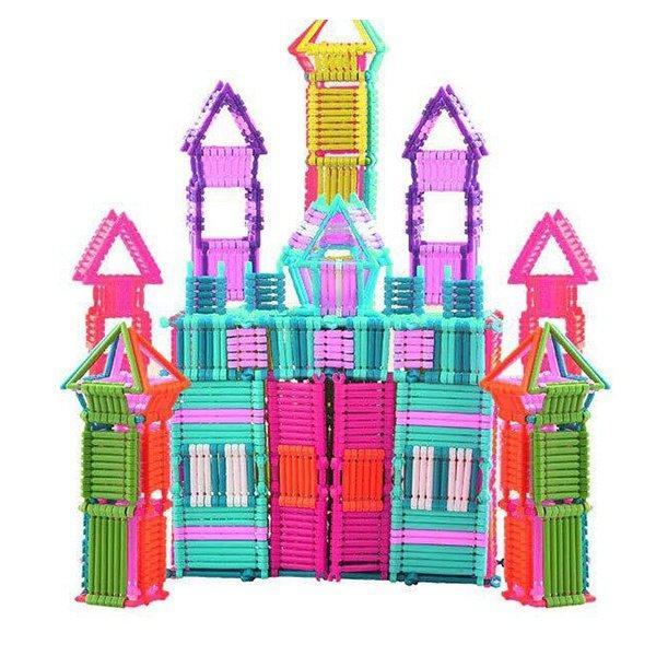 Hình ảnh Bộ đồ chơi xếp hình que 400 chi tiết rèn tính sáng tạo cho bé