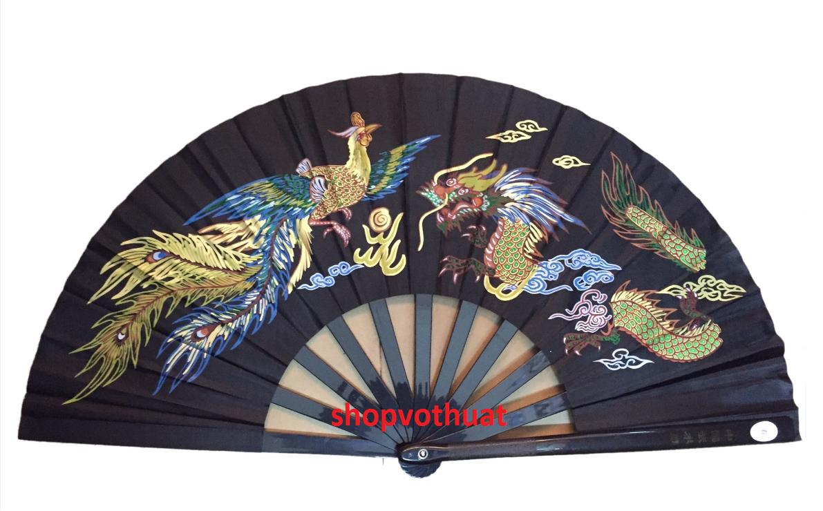 Hình ảnh Quạt Võ Thuật cao cấp | Quạt Kung Fu cao cấp ( màu đen )