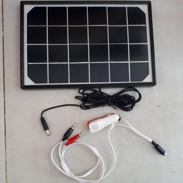 tấm pin mặt trời sạc + cóc sạc điện thoại