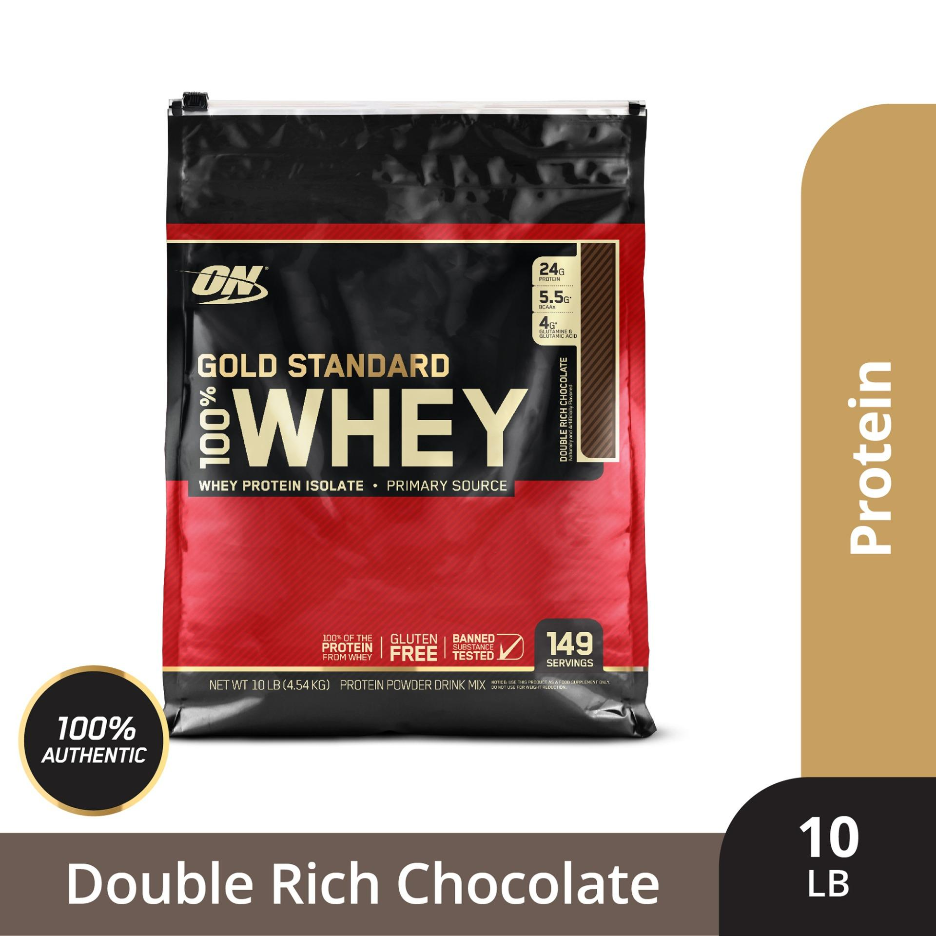 Thực phẩm bổ sung Optimum NutritionGold Standard 100% Whey Double Rich Chocolate10 lbs