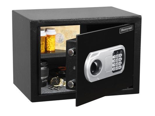 Két sắt Honeywell Mỹ 5110 màu đen két sắt mini an toàn cho gia đình, khóa điện tử có bắt vít cố định két xuống sàn chống trộm
