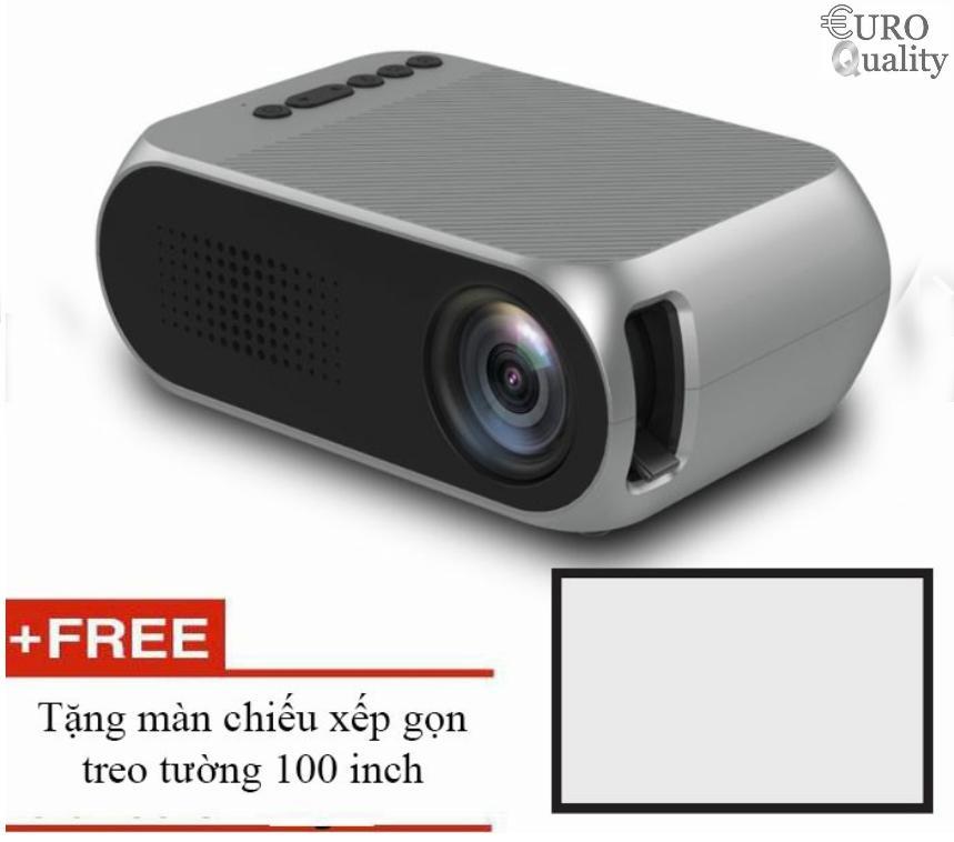Hình ảnh Máy Chiếu LED mini YG320 1080p Home Cinema + tặng màn chiếu 100 inch