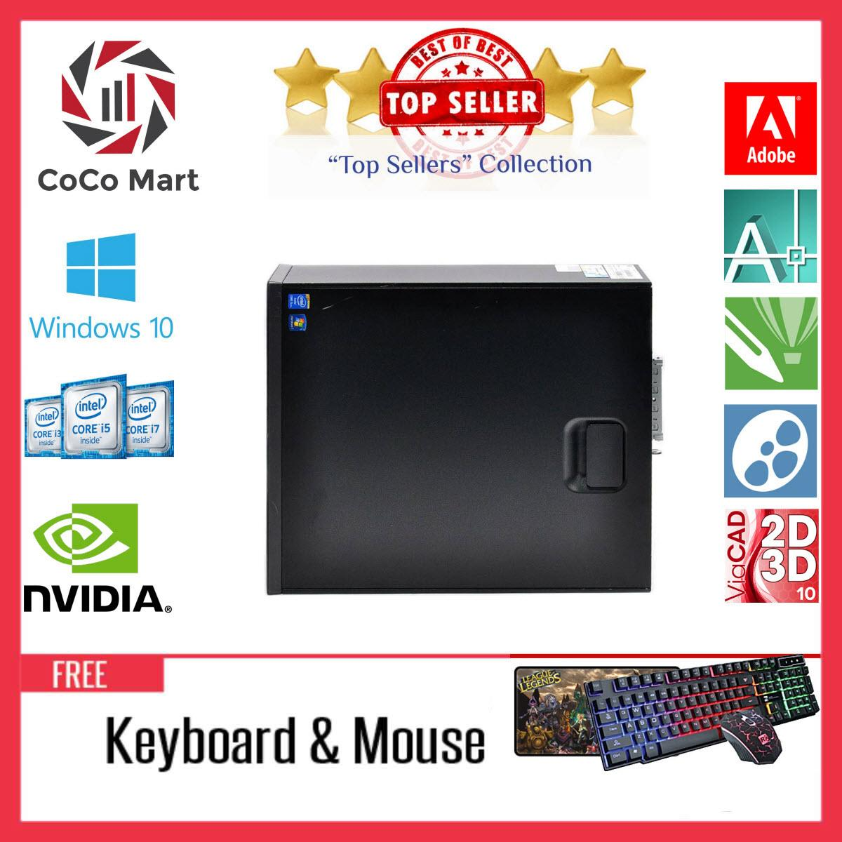 Máy tính đồng bộHP EliteDesk 800 G1 SFF Chạy CPU Pentium G3250, Ram 8GB, SSD 120GB, HDD 3TB + Bộ Quà Tặng - Hàng Nhập Khẩu