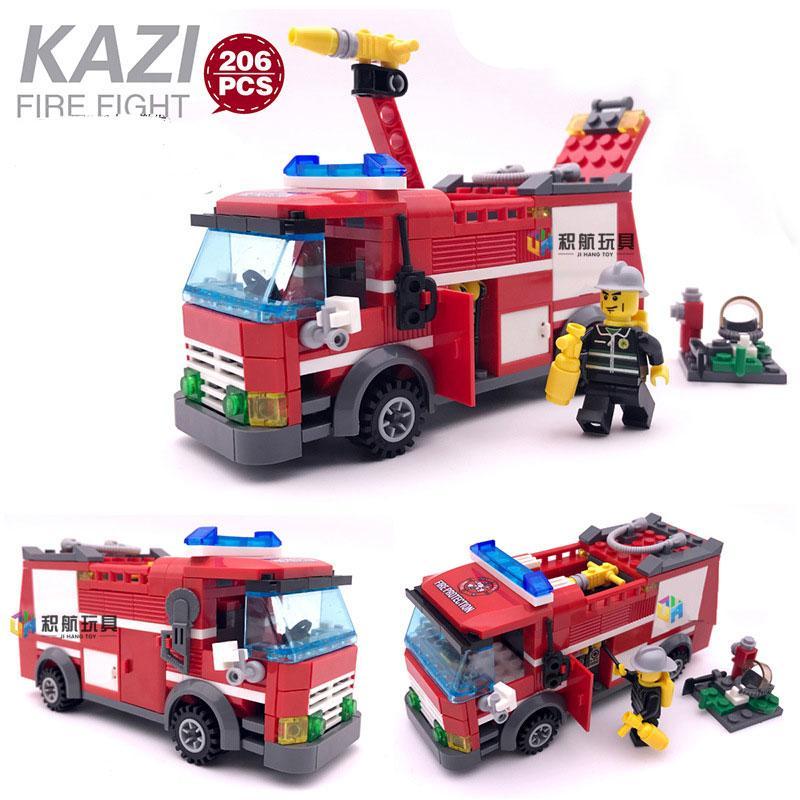 Hình ảnh hộp lắp ráp 4 trong 1 xe Truck đồ chơi Lego lắp ráp