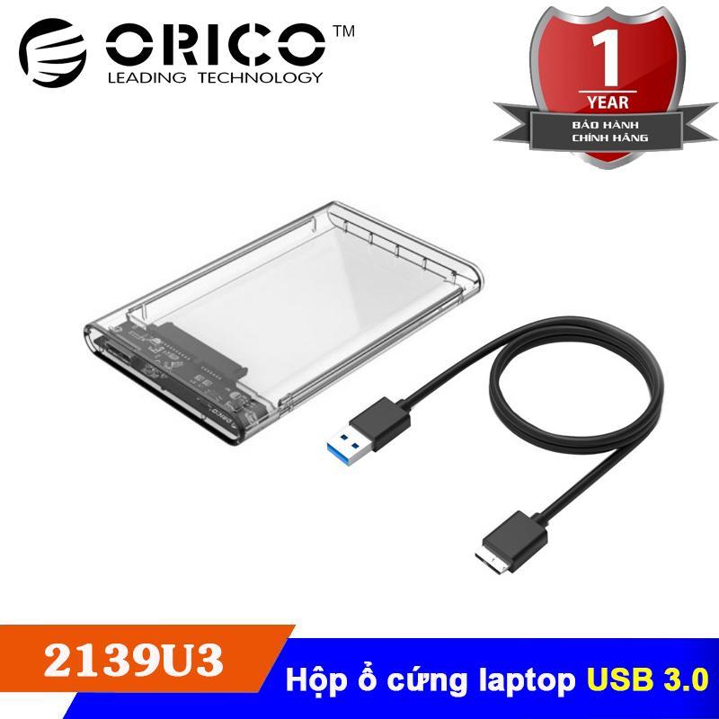 Hình ảnh Hộp đựng ổ cứng HDD/SSD 2.5 - USB 3.0 SATA 3 - Orico 2139U3 - Hàng chính hãng phân phối
