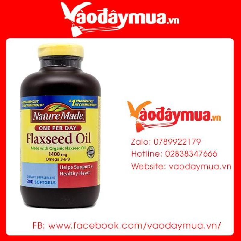 Dầu Hạt Lanh Omega 3 6 9 Nature Made Flaxseed Oil 1400mg 300 Viên Của Mỹ cao cấp