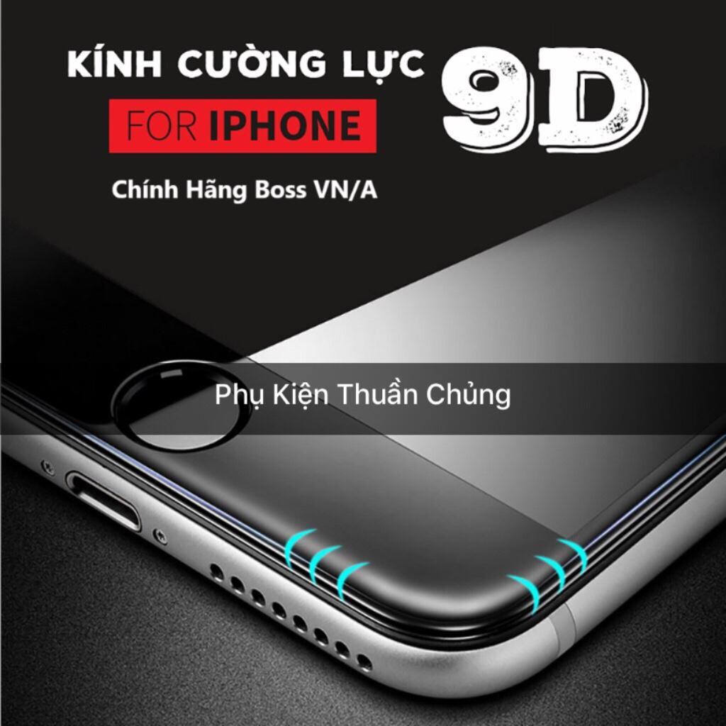 Kính cường lực 9D full màn hình Iphone 6,6s,7,8,x,6p,6sp,7p,8p,X đen ( vui lòng chọn đúng dòng điện thoại + màu trong mục Lựa Chọn)