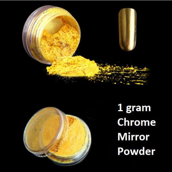 Bột màu giả kim hiệu ứng Gương trang trí móng tay (1gram Vàng Kim #1) giá rẻ