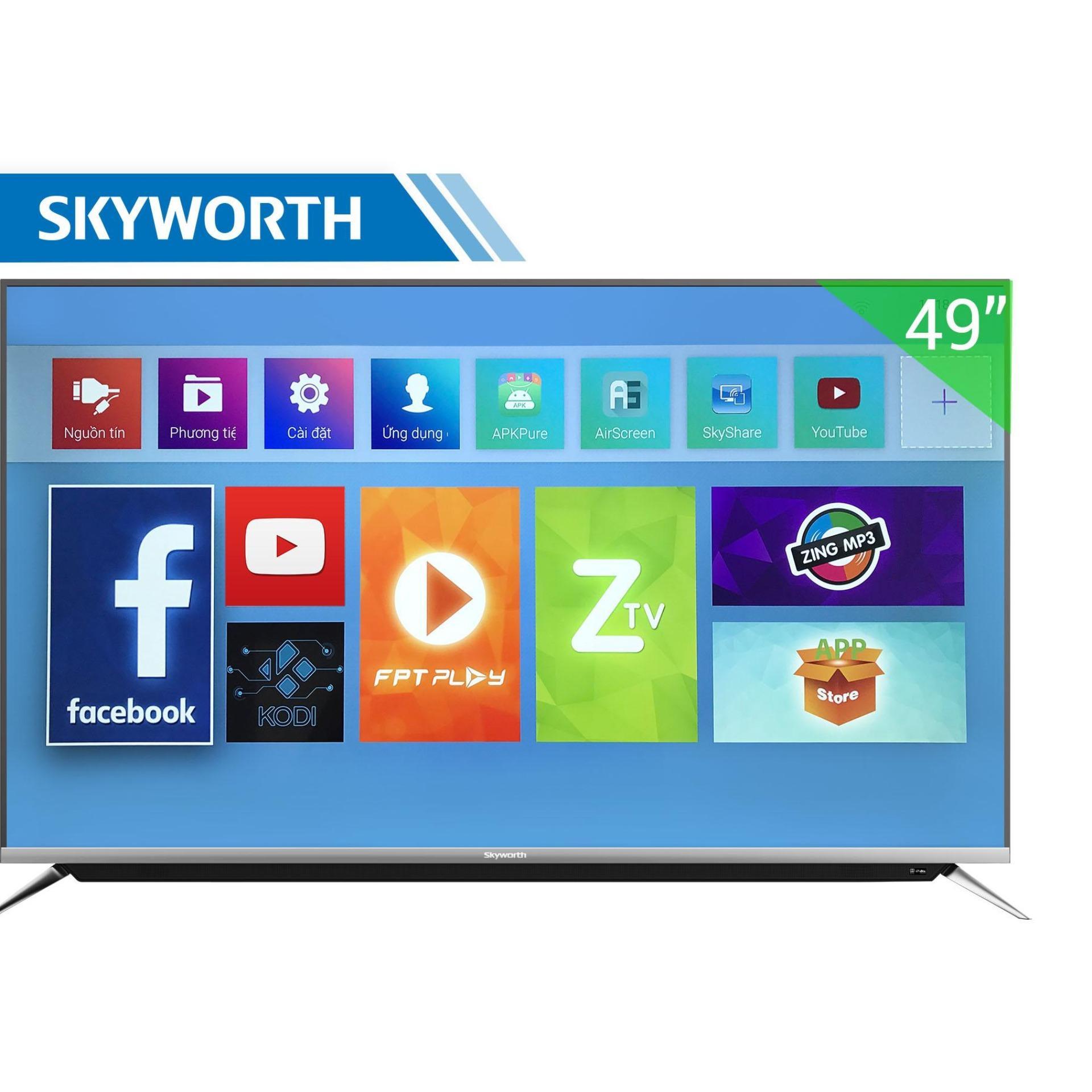Smart Tivi Skyworth 49 inch 4K – Model 49G6A1T3VN (Đen) - Hãng phân phối chính thức