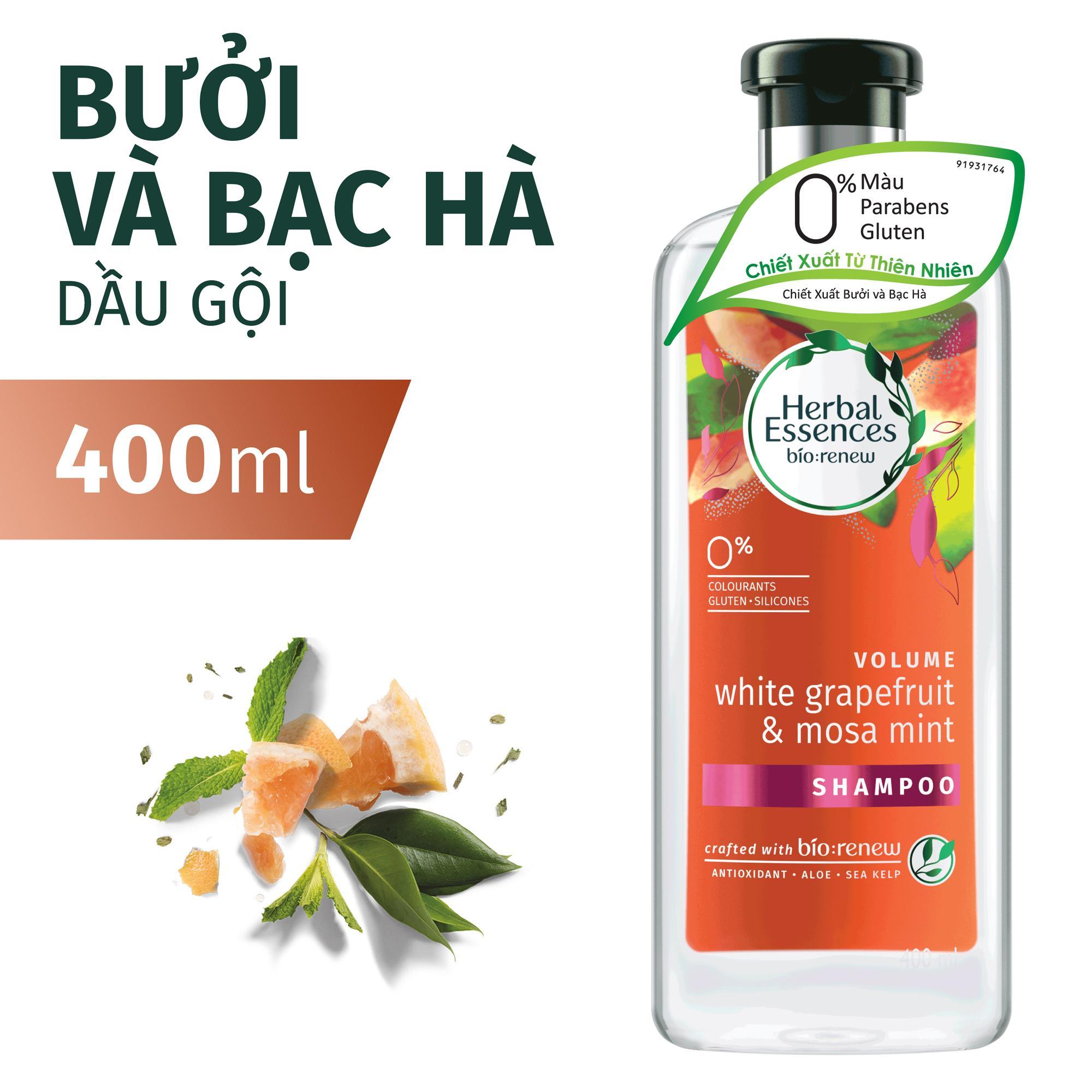 Dầu Gội Herbal Essences Bưởi Và Bạc Hà (400ml)