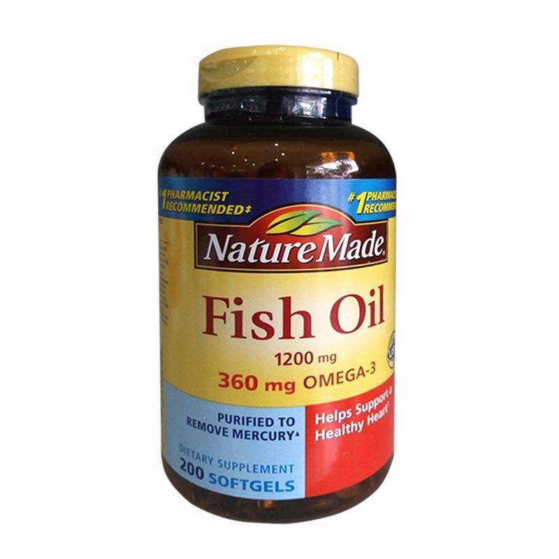 Viên Uống Dầu Gan Cá Nature Made Fish Oil Omega 3 1200mg 200 vViên
